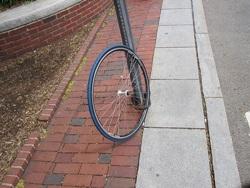 Dåligt låst cykel